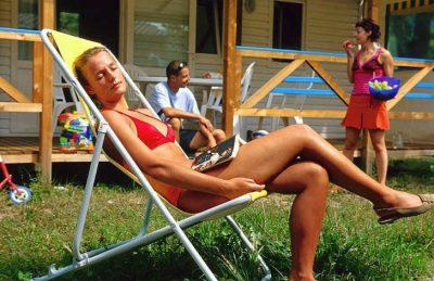 Campeole La Nubliere Sunbathing
