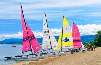 Campeole la Pinede Lake Annecy Sailing