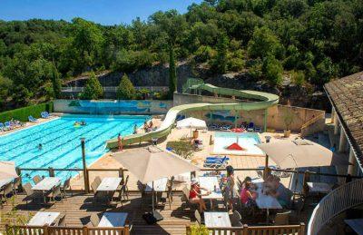 Camping Chateau de Boisson Pool Terrace