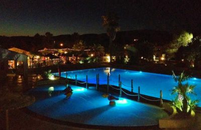 Camping lei Suves Pitch Only Pool at Night