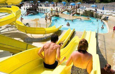 Campsite Domaine le Pommier Water Slides