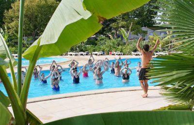 Campsite le Village Corsaire des Deux Plages Pool Fitness