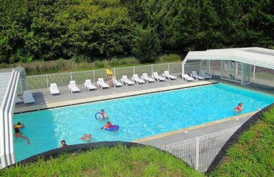 Flower Camping le Rompval Pitch Only Outdoor Covered Pool