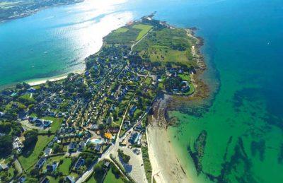 La Baie Campsite Ariel Overview