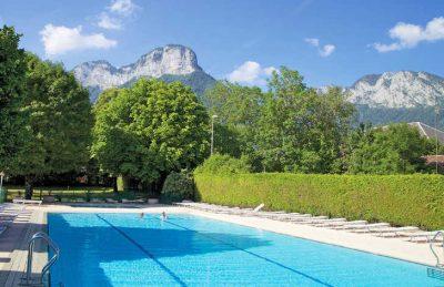 La Ferme de la Serraz Pool Scenery