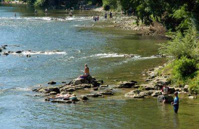 L'Ardechois Campsite River Location