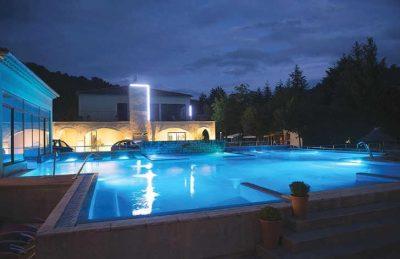 Les Ranchisses Pool Night Time