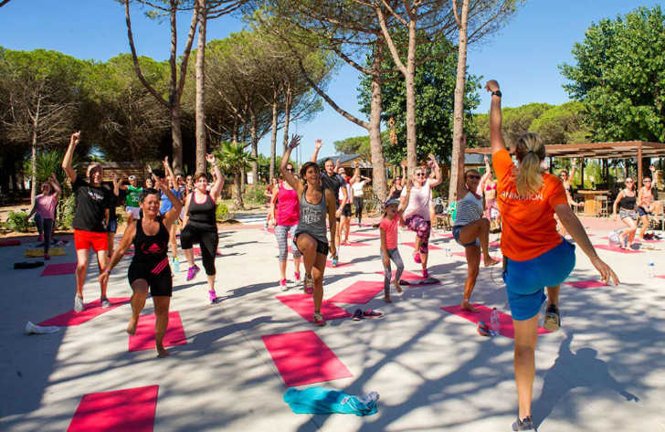Camping le Castellas Fitness Classes