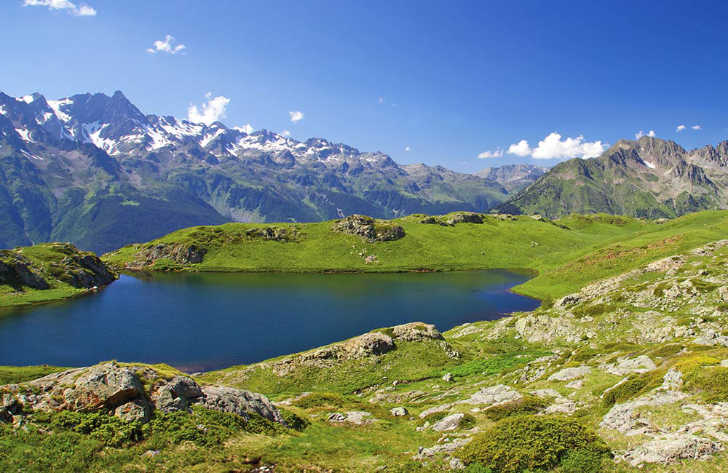 Campsites in The Alps, France